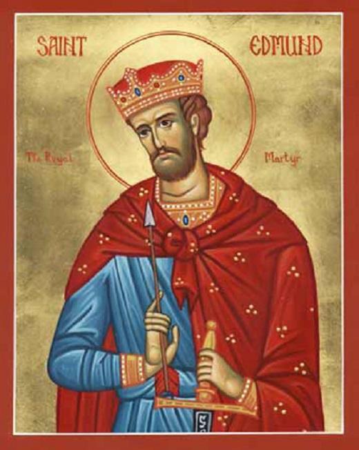 Saint Edmond le Martyr, roi d'Est-Anglie (841-870). Fête le 20 ...