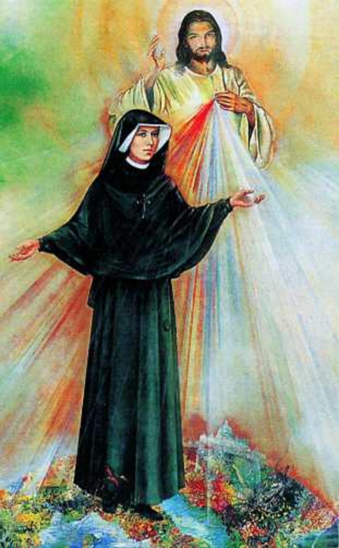 Sainte Sœur Marie-Faustine Kowalska (1905-1938). Fête le 05 Octobre.